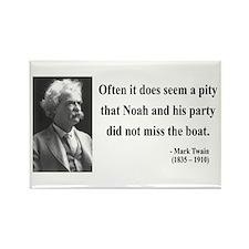 Mark Twain 23 Rectangle Magnet