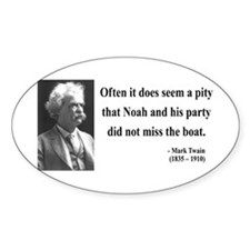 Mark Twain 23 Oval Decal