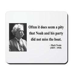 Mark Twain 23 Mousepad
