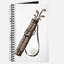 Vintage Golf Bag Journal