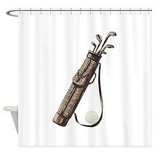 Vintage Golf Bag Shower Curtain