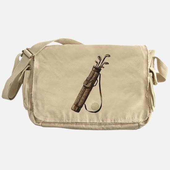 Vintage Golf Bag Messenger Bag