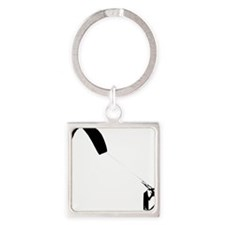 Kite Surfing Square Keychain