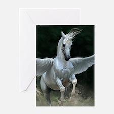 White Pegasus Greeting Cards