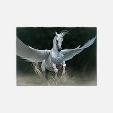 White Pegasus 5'x7'Area Rug
