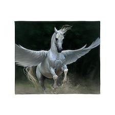 White Pegasus Throw Blanket