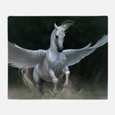 White Pegasus Throw Blanket