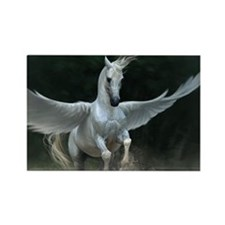 White Pegasus Magnets