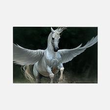 White Pegasus Magnets