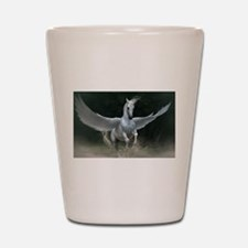 White Pegasus Shot Glass