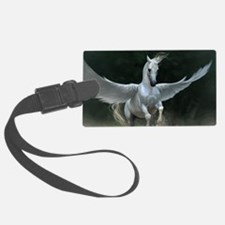 White Pegasus Luggage Tag