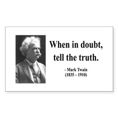 Mark Twain 24 Rectangle Decal