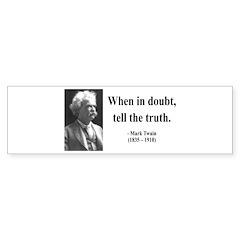 Mark Twain 24 Bumper Bumper Sticker