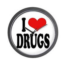 I Love Drugs Wall Clock
