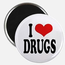"""I Love Drugs 2.25"""" Magnet (100 pack)"""