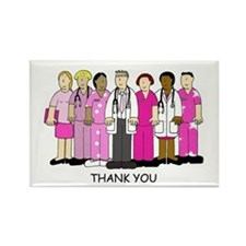 Thank you to breast cancer medica Rectangle Magnet