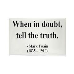 Mark Twain 24 Rectangle Magnet (10 pack)