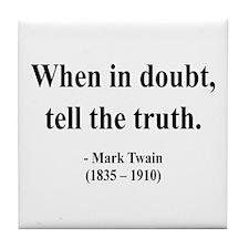 Mark Twain 24 Tile Coaster