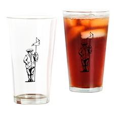 Golf Caddy Drinking Glass