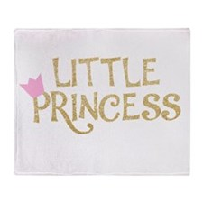 Glitter Little Princess Throw Blanket