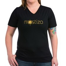 Women's Mestiza V-Neck Dark T-Shirt