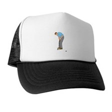 Golfer Putting Trucker Hat