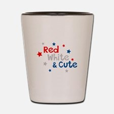 Red, White & Cute Shot Glass