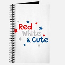 Red, White & Cute Journal