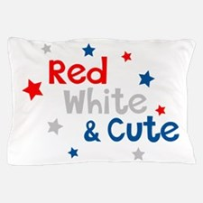 Red, White & Cute Pillow Case