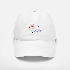Red, White & Cute Baseball Baseball Cap