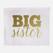 Gold Foil Big Sister Throw Blanket