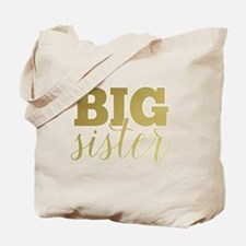 Gold Foil Big Sister Tote Bag