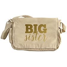 Gold Foil Big Sister Messenger Bag