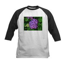 Purple pink hydrangea flower in bl Baseball Jersey