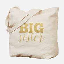 Glitter Big Sister Tote Bag