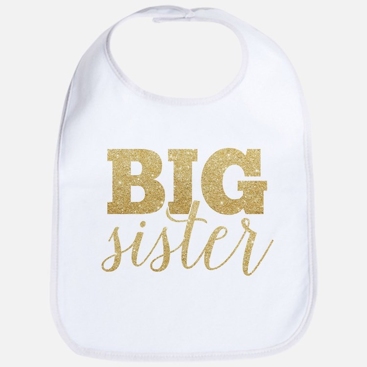 Glitter Big Sister Bib