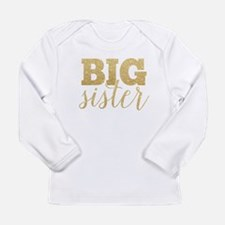 Glitter Big Sister Long Sleeve T-Shirt