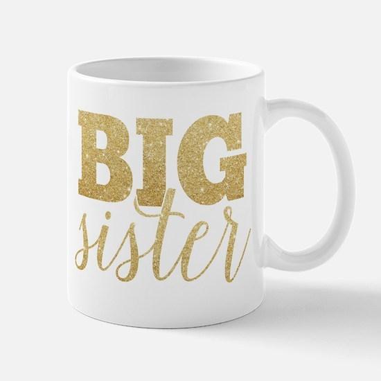 Glitter Big Sister Mugs