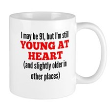 91 Years Old Young At Heart Mugs