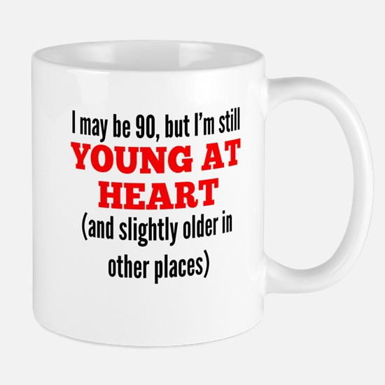 90 Years Old Young At Heart Mugs