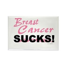 Breast Cancer Sucks Rectangle Magnet
