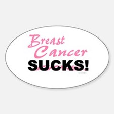 Breast Cancer Sucks Oval Decal