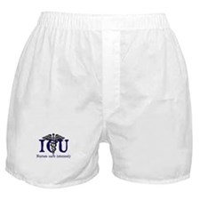 ICU Nurses care intensely Boxer Shorts