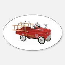 Vintage Fire Truck Pedal Car Decal