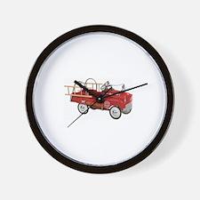 Vintage Fire Truck Pedal Car Wall Clock