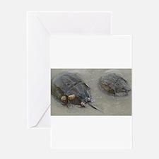 Horseshoe Crabs, Prehistoric Sea Dw Greeting Cards