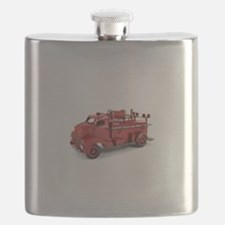 Vintage Metal Fire Truck Flask