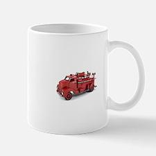 Vintage Metal Fire Truck Mugs