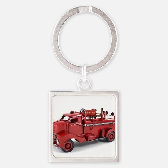 Vintage Metal Fire Truck Keychains