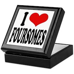I Love Foursomes Keepsake Box